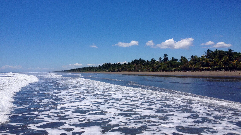 Playa Las Lajas vom Wasser aus
