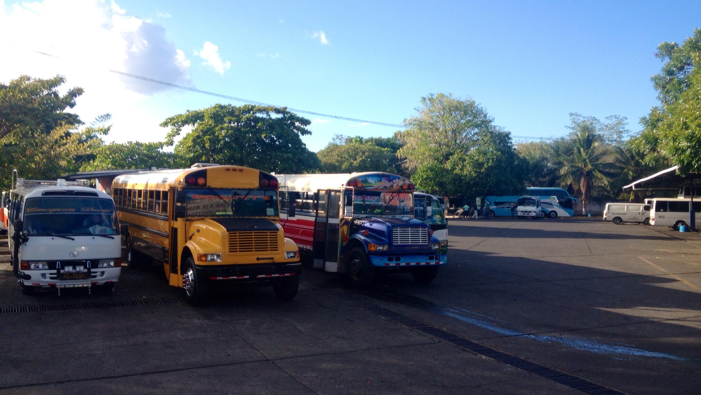 Unser Bus nach Boquete (links)