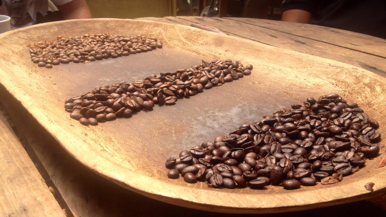 Das Ergebnis der dreistufigen Kaffee-Röstung