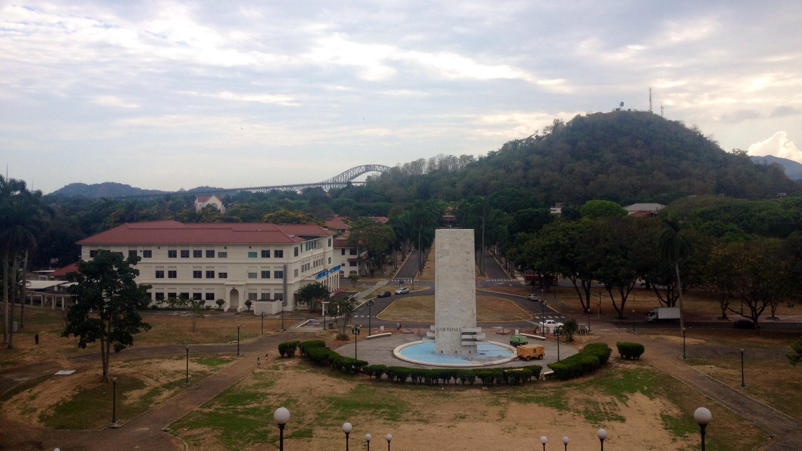 Barrio Balboa in Panama City (Blick herunter von der Kanalverwaltung)