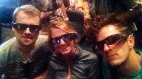 Sven, Alicja und Martin im 3D-Kino