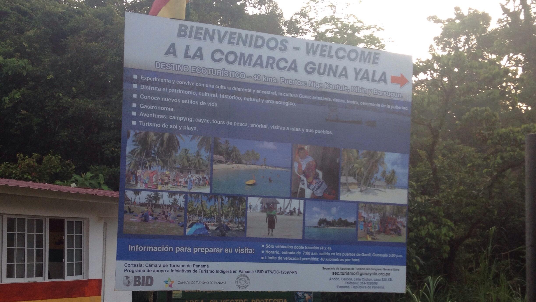 Grenzübergang zur Comarca Guna Yala