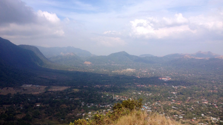 Blick von der India Dormida auf El Valle