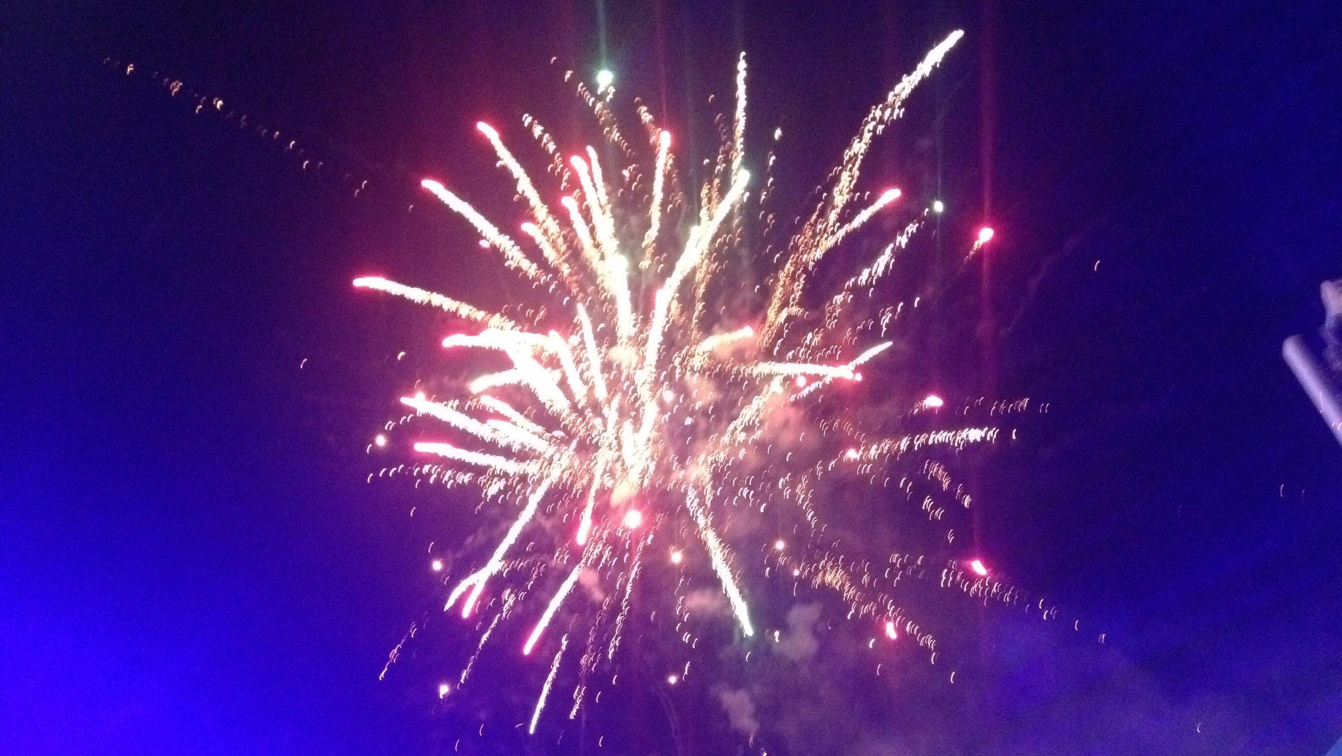 Feuerwerk zu Karneval in Las Tablas