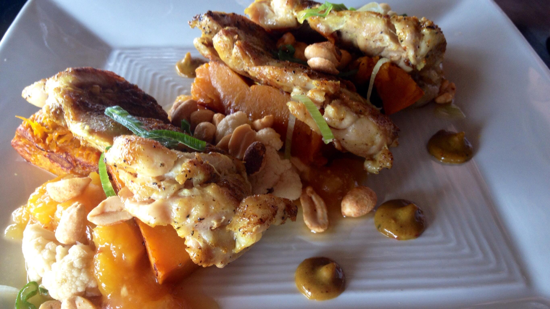 Chicken mit Mangochutney