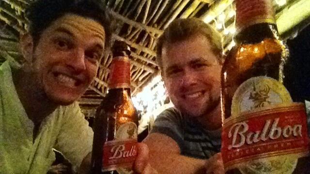 Geschafft, aber glücklich Martin und Sven bei Luca in Santa Catalina