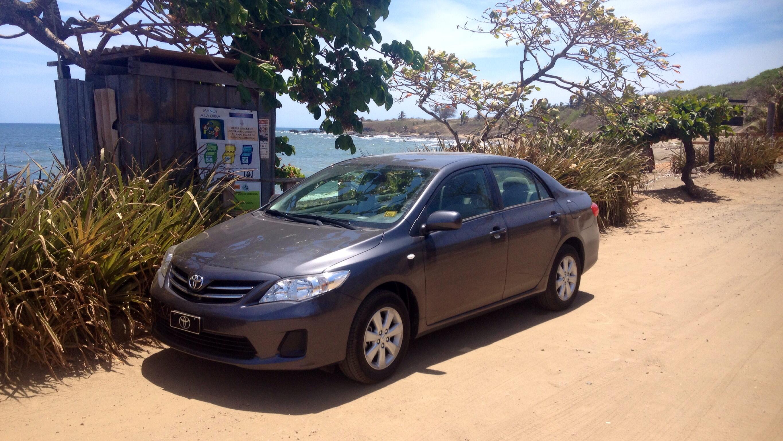 Unser Toyota Corolla an der Playa El Toro