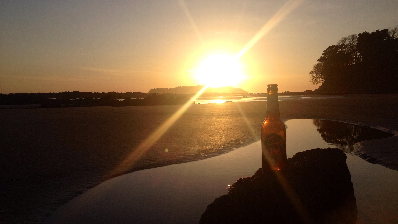 Atlas im Sonnenuntergang an der Playa Estero