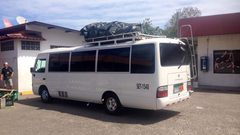 Unser Reisebus - Fahrt Boquete - Almirante