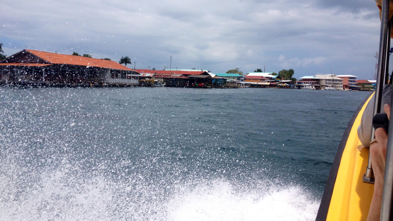 Anfahrt auf Bocas del Toro