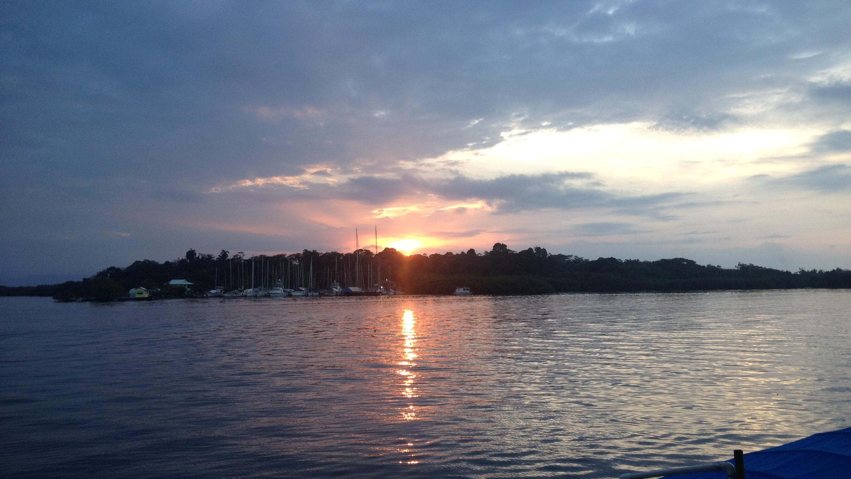 Sonnenuntergang - Blick vom Hotel Olás