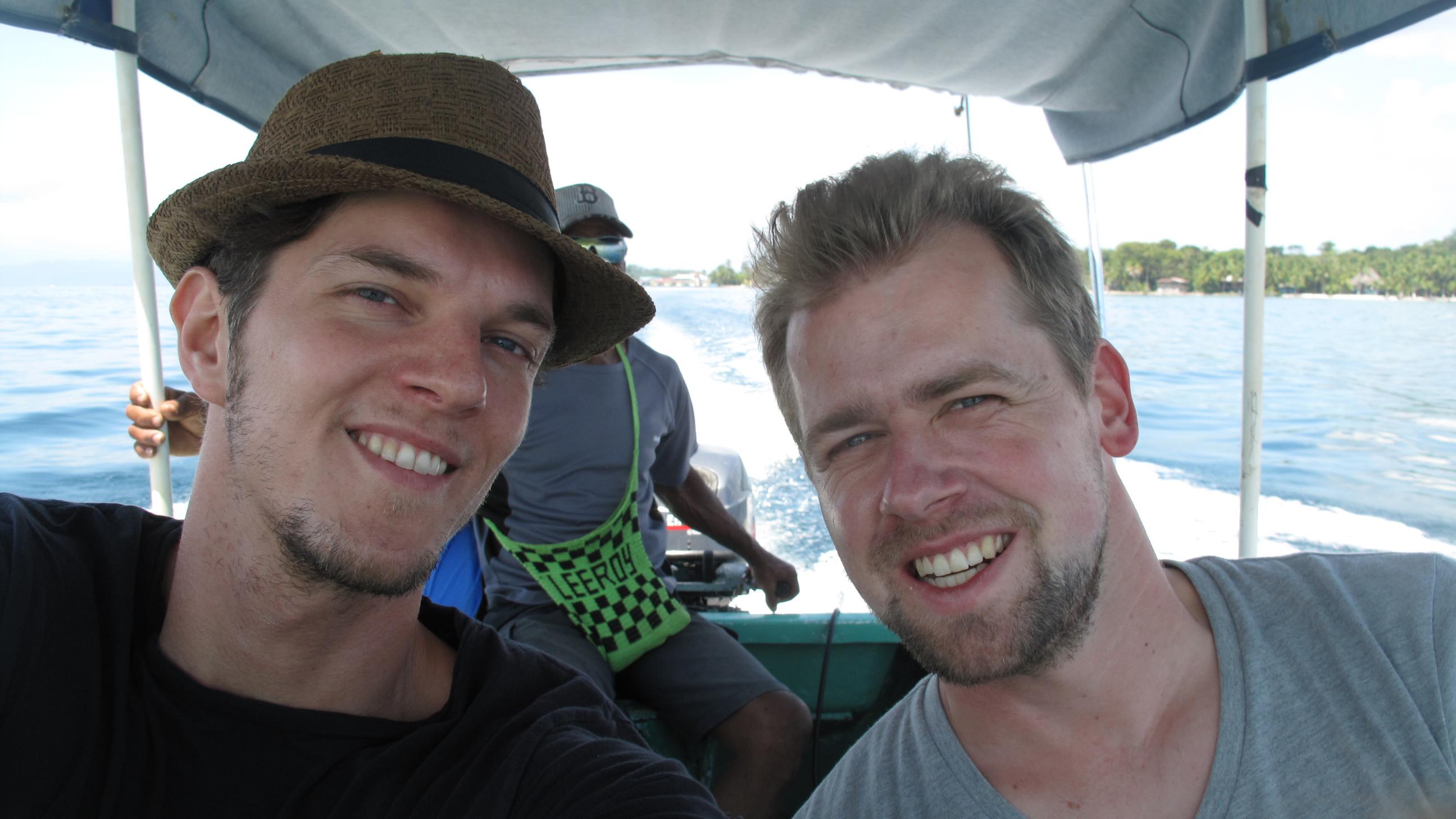 Martin und Sven auf dem Weg zur Red Frog Beach