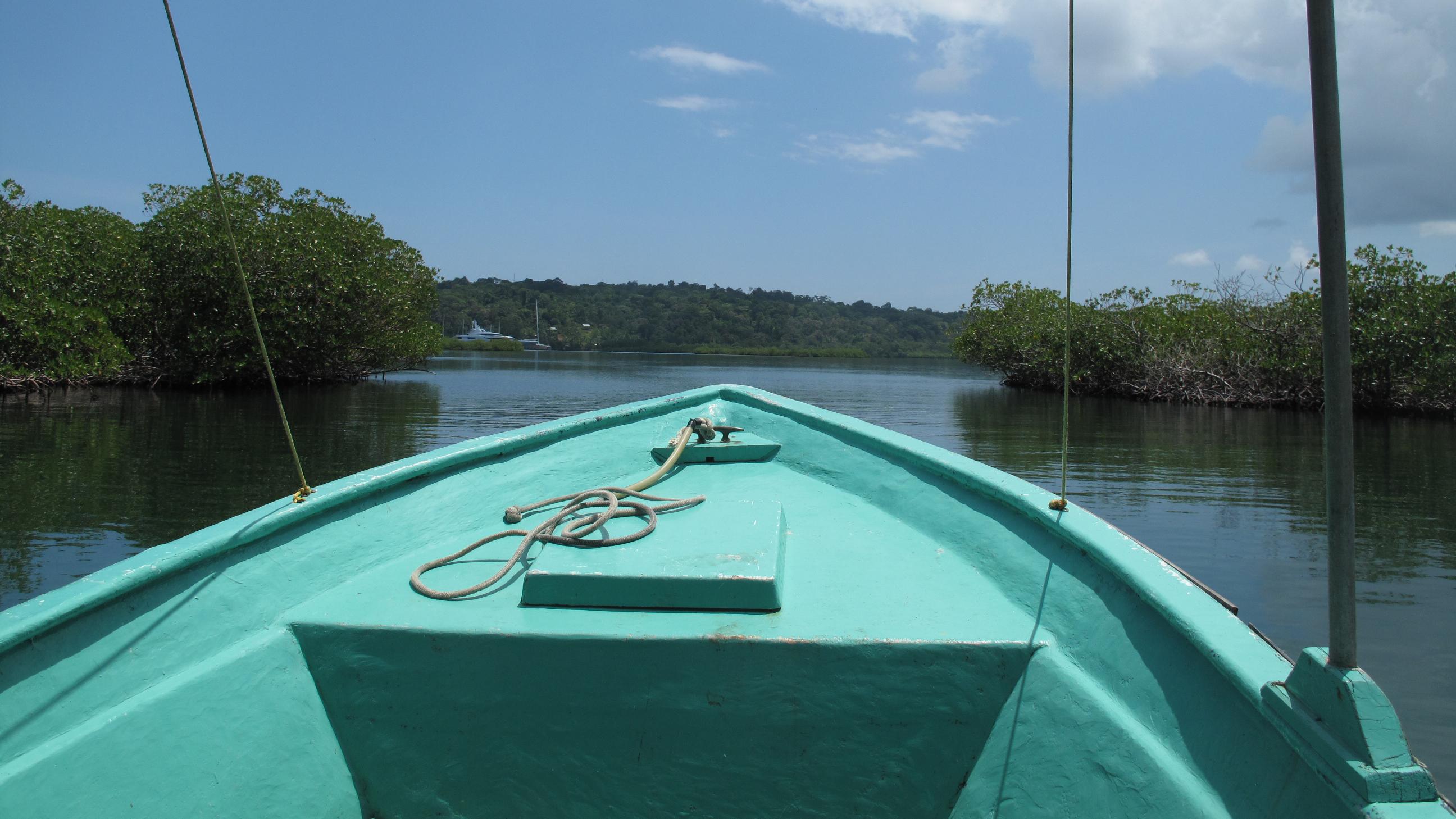 Boot auf dem Weg zur Isla Bastimentos