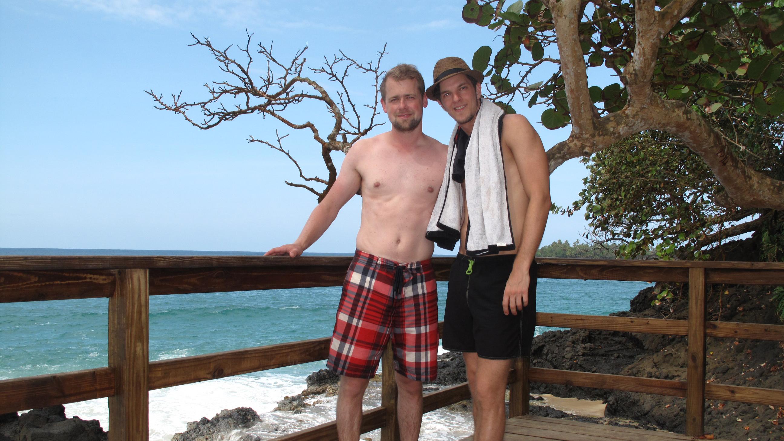 Sven und Martin an der Red Frog Beach