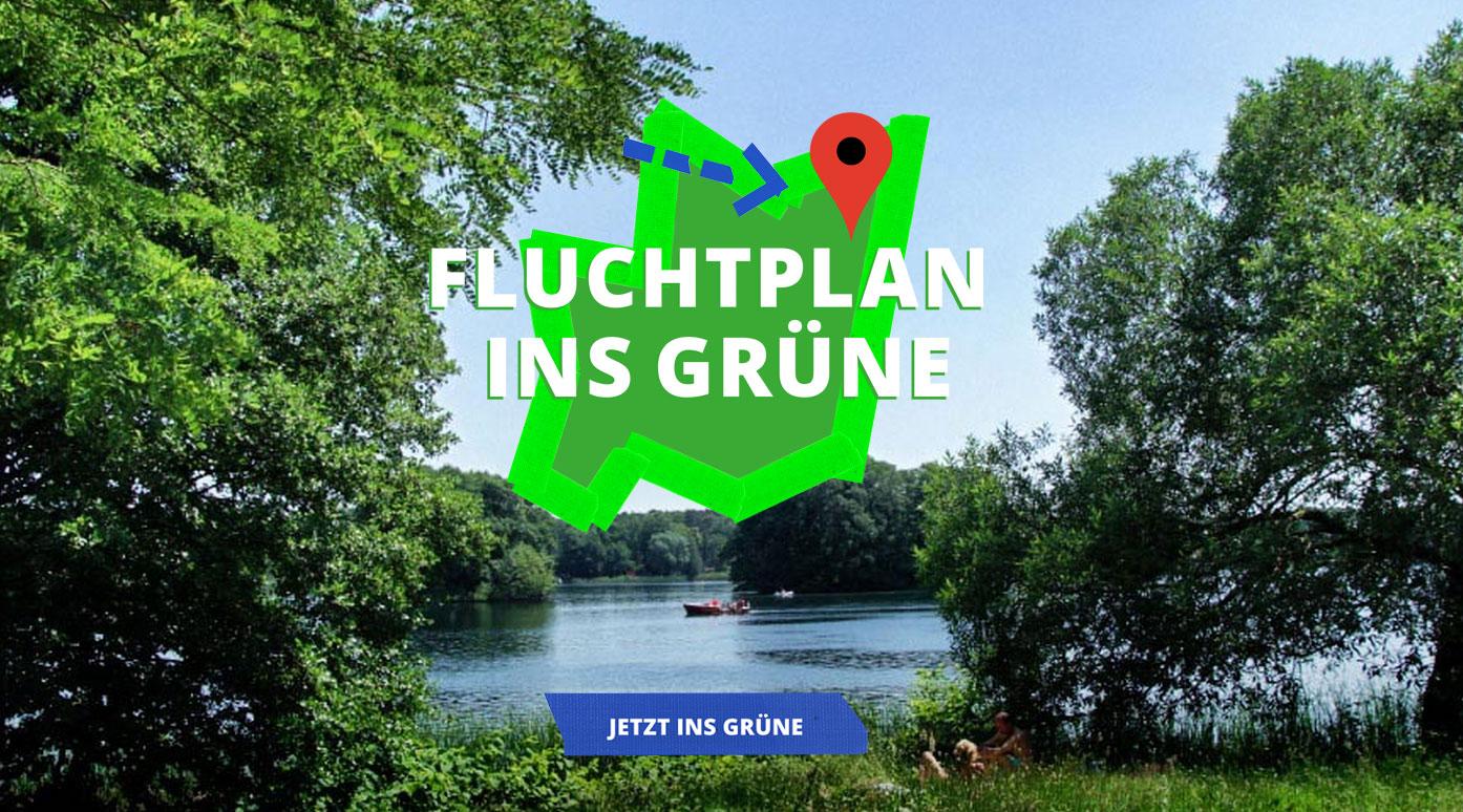 Fluchtplan ins Grüne - Freizeit-Tipps und Ausflugsvorschläge mit Google Maps